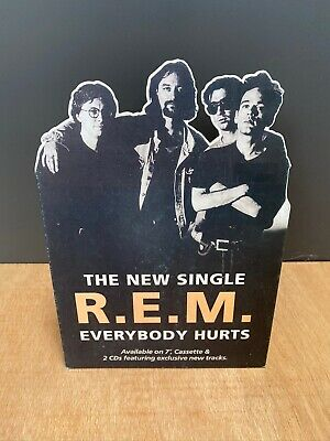 R.E.M. Everybody Hurts ORIGINAL UK PROMO STAND UP STANDEE 12  Counter Display • 40£