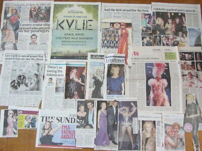 KYLIE MINOGUE Clippings/ Cuttings UK Newspaper  2007-2015 • 9.99£