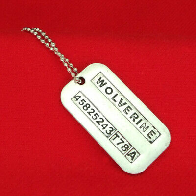 X-Men Inspired Wolverine James Logan Dog Tag Pendant Necklace • 4.99£