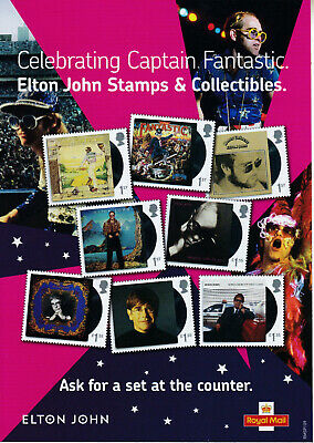 Royal Mail Elton John Promotional Advertising Window Sticker & Counter Stand • 49.99£
