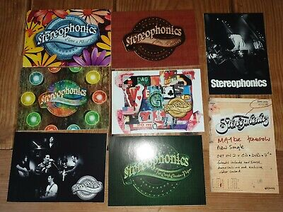 8 Stereophonics Promotional Post Cards And Singles Poster • 15.99£