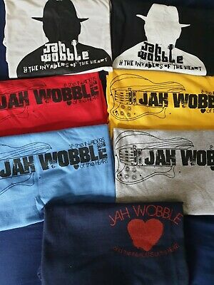 Jah Wobble&InvadersotHeart T-Shirts (7 Designs) **OFFICIAL JAH WOBBLE A/C** • 14£