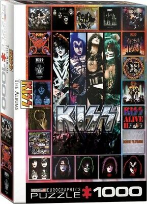 [EG60005305] KISS The Albums (Eurographics 1000 Piece Jigsaw Puzzle) Hard Rock • 14.95£