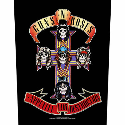 Guns And Roses -  Appetite For Destruction  - Large Size - Sew On Back Patch • 6.99£
