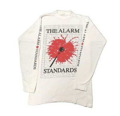 THE ALARM Standards 1990 T Shirt Long Sleeve Size XL Mike Peters • 60£