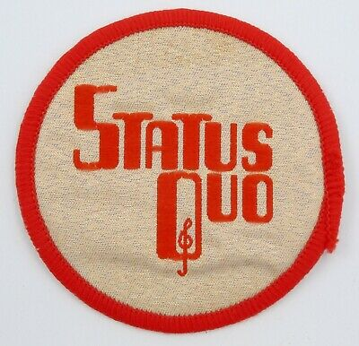 STATUS QUO 'Logo' Vintage Sew-on Woven Patch • 2.95£