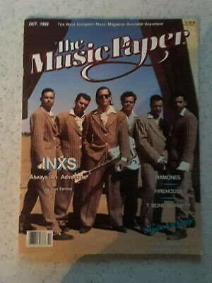 The Music Paper Oct 1992 INXS RAMONES • 5.71£