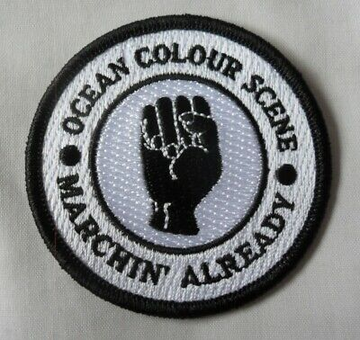 *NEW* Ocean Colour Scene 'Marchin Already' Iron On Patch. OCS, Mod,Northern Soul • 4.99£