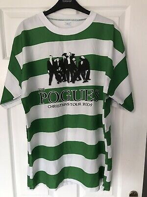Rare Celtic Football Shirt Style The Pogues Tour T Shirt Christmas 2005 XL • 19.99£