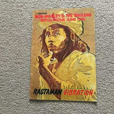 Bob Marley & The Wailers Tour Programme 1976 Rastaman Vibration Tour • 125£