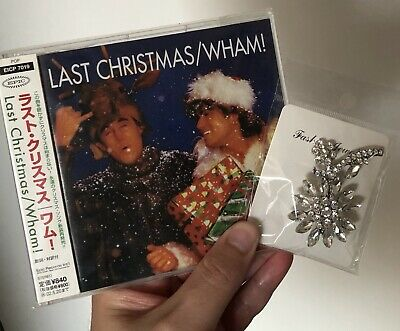George Michael Last Christmas Rare Japanese Cd Single And Replica Broach • 45£