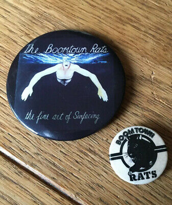 THE BOOMTOWN RATS - Old Original 70/80's Button Pin Badges Punk New Wave • 2£