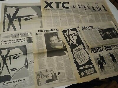 XTC Melody Maker Record Mirror 1979 1982 Magazine Cuttings Clippings • 16.50£