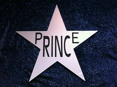 Prince Unique Wall Art Large Mirrored Aluminium Star ( Not Glam Slam ) • 40£