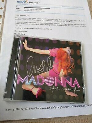 Madonna Confessions USA CD SIGNED/AUTOGRAPHED Very Rare REAL PROMO!! • 550£