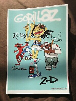 Gorillaz A4 Art Print 2-D Only One On EBay In The UK • 7.50£