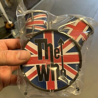 Miniture Drum Kit The Who Union Flag • 25£