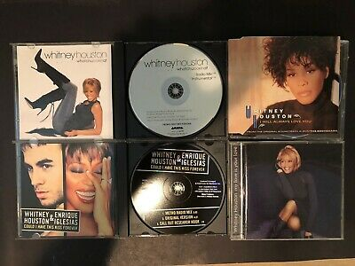 Whitney Houston Rare CD Lot Promo CD Enrique Iglesias Could I Have This Kiss • 2.37£
