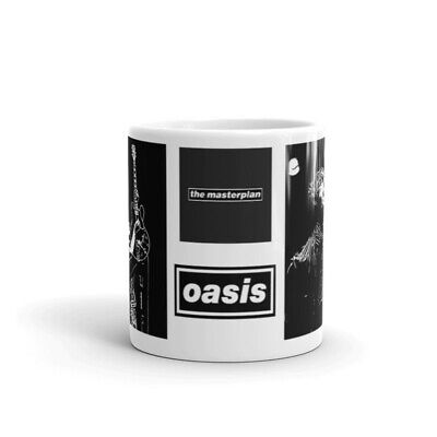 New Boxed Oasis  Liam Noel Gallagher The Masterplan Black And White Mug 11 Ounce • 10£