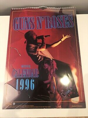 GUNS N ROSES Official Calendar 1996 • 5.55£
