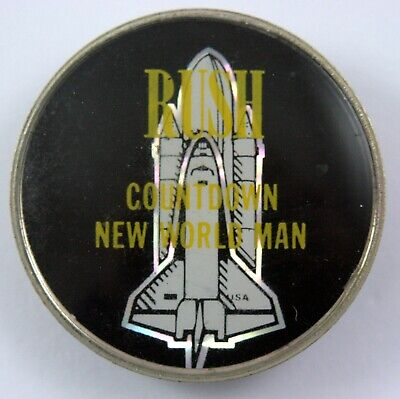 RUSH 'Countdown New World Man' Vintage Prismatic Crystal Lapel Badge • 3.95£