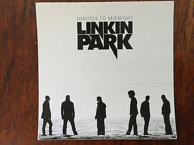 Linkin Park  Promo Sticker For The Minutes To Midnight  Cd 2007 • 3.15£