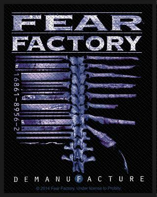 Fear Factory -  Demanufacture  - Woven Sew On Patch -official - U.k. Seller • 3.49£
