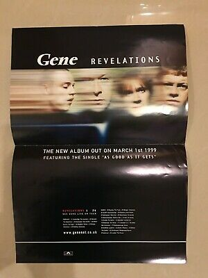 Gene - Poster And Band Flyer - Revellations • 3.99£