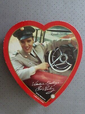 ELVIS PRESLEY CHOCOLATE BOX:  HEART SHAPED:  Russell Stover Collection Series –  • 34.99£
