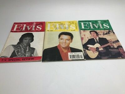 ELVIS PRESLEY:   3X  ELVIS MONTHLY 273 And 224 /409 MEMPHIS THE KING  • 3.49£