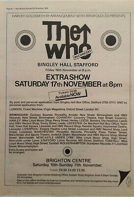 The WHO  Bingley & Brighton Original Promo Advert • 4.99£