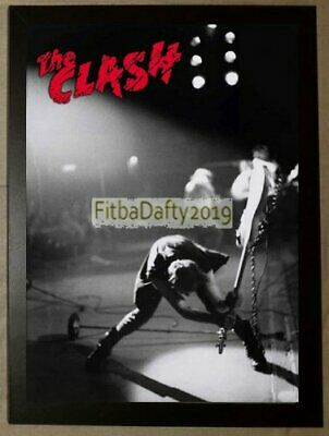 A4 Framed The Clash Joe Strummer Iconic London Calling Reproduction Poster  • 9.99£