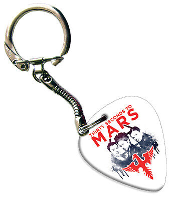30 Seconds To Mars Guitar Plectrum Keychain Keychain Band Plectrum • 5.92£