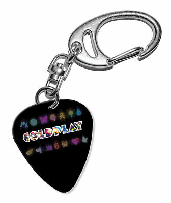 Coldplay Guitar Plectrum Keychain - F 1 • 5.92£