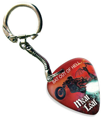 Meat Loaf Bat Out Of Hell Guitar Plectrum Keychain • 5.69£