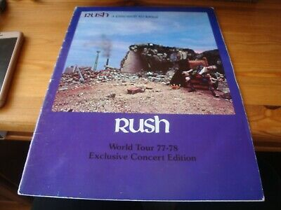 RUSH A Farewell To Kings Tour Programme 77/78 VGC Very Rare Exclusive Concert Ed • 80£