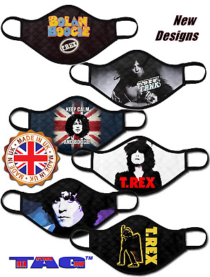 Marc Bolan T.rex Face Masks 3-layer & Washable. All Profit To Marc's Shrine Care • 9£