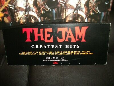 THE JAM :Promotional Record Shop Display  Greatest Hits  LP - Paul Weller • 45£