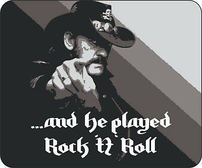 Lemmy Kilmister Motorhead  He Played Rock N Roll  Unique Quality Mouse Mat • 7.99£