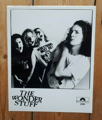 The Wonder Stuff  1988 Official Promo Picture  • 10£