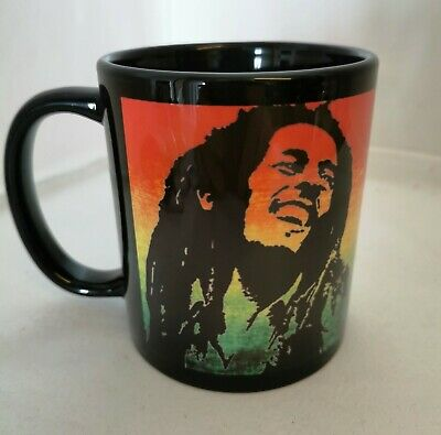 Bob Marley Unique Artistic Style Full Colour Image On Black Mug  • 12.99£