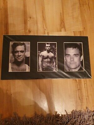 Robbie Williams Mounted And Sealed Photo • 25£
