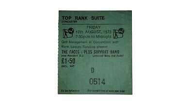 The Faces Concert Ticket 1973 • 32£