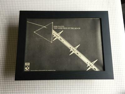 Pink Floyd Dark Side Of The Moon 1973  Framed A4 Advert • 32.50£