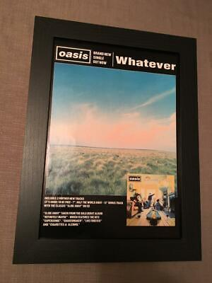 Oasis Whatever  Framed  A4 Advert • 30£