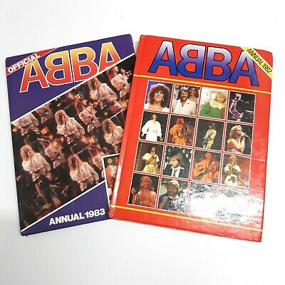Two ABBA Annuals 1982 & 1983 Official Hardback Vintage Pop Good Condition • 17.99£