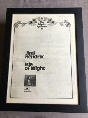 Jimi Hendrix Live Isle Of Wight Festival 1970 Framed Advert / Ad  18  X 14  • 60£
