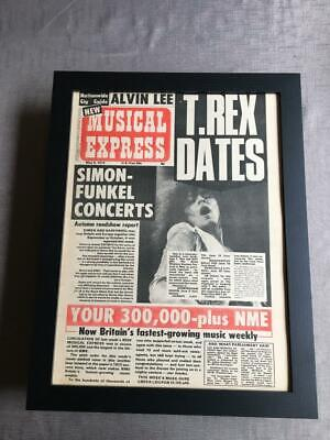 T Rex Marc Bolan  Framed NME Magazine Cover May 1972   -  22  X 18  • 50£