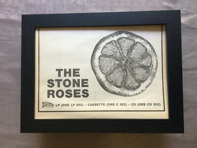 Stone Roses Silvertone Debut Album  Framed  A4 Advert • 32.50£