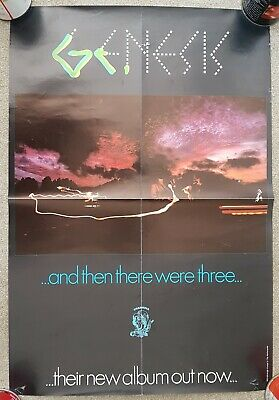GENESIS And Then There Were 3 Original UK  Promo Poster. • 89.99£